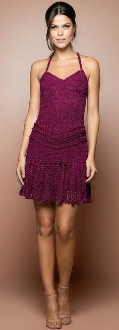 ideas for knitting dress diy robes Crochet Skirts, Crochet Blouse, Knit Or Crochet, Crochet Clothes, Vanessa Montoro, Diy Dress, Dress Skirt, Moda Crochet, Dress Vestidos