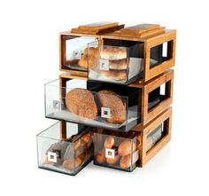 Resultado de imagen para estante para pan con tapa