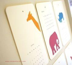 2010 Calendar  Animal by storybymia on Etsy, $22.00