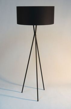Amazing Handmade Tripod Floor Lamp With Black Colored By DyankoffShop Awesome Design