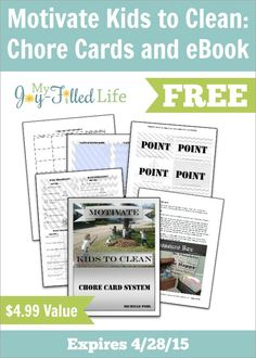 Chore Cards and Ebook freebie border