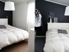 Makuuhuoneen musta seinä