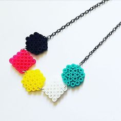 Necklace perler beads by handmadelovealex