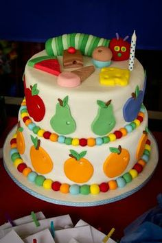 Hi there, I made this cake for my son's first birthday this weekend. It was my first cake and looked great on the candy bar. Congratulations on your hoot cake-very cute!  -Elizabeth Farnham