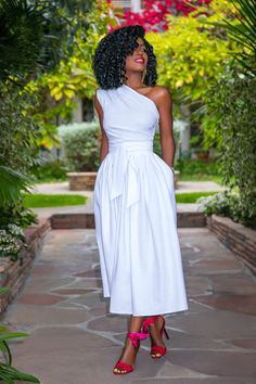 White One Shoulder Midi Dress (Style Pantry) - White One Shoulder Midi Dress Source by kalinagraszk - Midi Dress Outfit, Belted Dress, Boho Dress, Dress Outfits, Fashion Dresses, Midi Dresses, Woman Outfits, Club Outfits, White Midi Dress