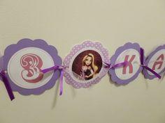 Birthday Name banner Rapunzel or ANY theme by DESIGNEDBYDVB, $15.00