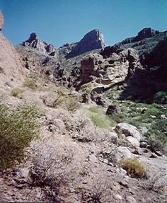 Hike to the top of the Flat Iron via the Siphon Draw trail in Superstition State Park, Arizona.