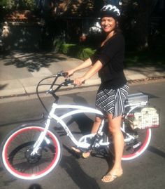 The latest electric bike fashion. Looks good! www.chelanelectricbikes.com