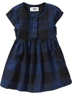 Buffalo-Plaid Twill Dresses for Baby | Old Navy
