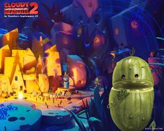High Resolution Wallpapers = cloudy with a chance of meatballs 2 backround, 1280x1024 (265 kB)