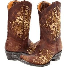 Christmas Gift! Girls cowgirl boots just like mine for my little girl!
