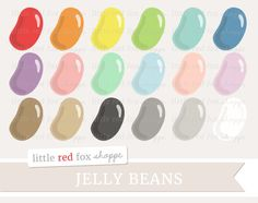 Jelly Bean Clipart, Easter Candy Clip Art, Candy Clipart, Jellybean Clipart, Icon Cute Digital Graphic Design Small Commercial Use by LittleRedFoxShoppe on Etsy https://www.etsy.com/listing/595775507/jelly-bean-clipart-easter-candy-clip-art