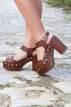 Caballo Chocolate Platform Heels