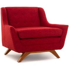 Joybird Aubrey Mid Century Modern Brown Chair