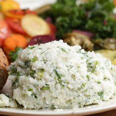 Garlic and Herb Mashed Cauliflower Recipe by Tasty