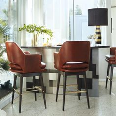 Greenstreet Swivel Bar Stool by Martyn Lawrence Bullard