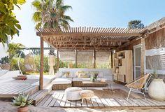 New Pergola Terrasse Fait Maison Ideas Outdoor Rooms, Outdoor Living, Outdoor Furniture, Outdoor Areas, Antique Furniture, Wood Furniture, Exterior Design, Interior And Exterior, Luxury Interior