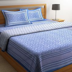 Light Blue Screen Print Reversible Double Bed AC Comforter. #comforters #bedcomforters #comfortersonline #cottoncomforters #accomforters #summercomforters #bestcomforters Bedding Shop, Quilt Bedding, Bedding Sets Online, Comforters Online, Quilts Online, Cool Comforters, Wooden Street, Cotton Bedding Sets, Quilts For Sale