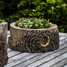 Elm Tree Stump Outdoor Garden Planter P-688