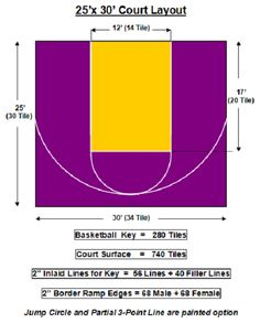 basketball court dimensions for backyard half basketball court dimensions court dimensions basketball court backyard basketball court size x backyard basketball tennis court dimensions Duke Basketball Tickets, Illini Basketball, Outdoor Basketball Court, Basketball Uniforms, Basketball Shooting Drills, Basketball Workouts, Basketball Goals, Basketball Hoop, Architecture