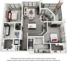 Sims 4 House Plans, House Layout Plans, Dream House Plans, Small House Plans, House Layouts, House Floor Plans, House Floor Design, Home Design Floor Plans, Home Building Design