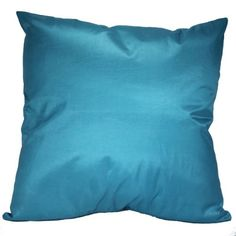 "Solid Color 18""x18"" Decorative Silk Throw Pillow Cover-Light Blue That's Perfect!"