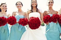 Classic and beautiful - red rose bouquets
