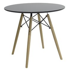 Round table Julita MDF top black F80 Furniture, Tables, Home Decor, Top, Collection, Products, Black, Mesas, Decoration Home