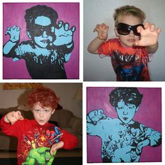 Dream a Little Bigger - Dream a Little Bigger Craft Blog - DIY Andy Warhol Inspired PopArt!