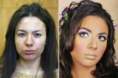 """""""Antes e depois"""" mostra que os produtos de beleza podem ter o mesmo efeito da edição de fotos."""