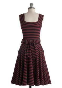 Guest of Honor Dress in Varsity Stripes, #ModCloth