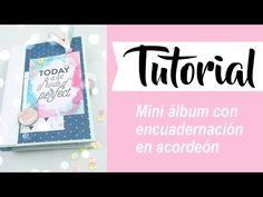 Tutorial: miniálbum con encuadernación en espina - YouTube