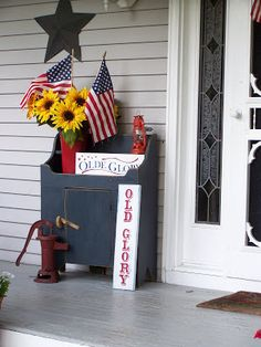 Old Glory porch decor