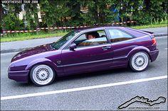 Purple VW Corrado on BBS Wheels