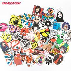 Hot Fashion Cute Design Doodle Funny Cartoon Sticker For Skateboard Laptop Luggage Fridge Toy Styling Sticker
