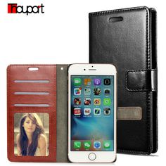 Luxury Retro wallet leather Cases For iPhone 6S 6 5S SE 5 4S 4 case flip stand Leather cover Photo frame Protective Shell Skin