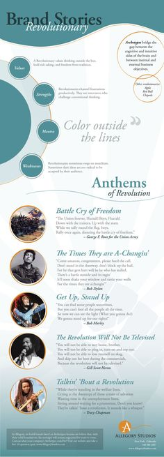 The story of the Revolutionary Archetype  http://www.allegorystudios.com/2015/02/infographic-the-revolutionary-archetype/