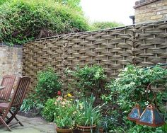 Willow Hurdle x from Natural Fencing Landscaping With Boulders, Natural Landscaping, Natural Fence, Fresco, Garden Privacy Screen, Garden Gates And Fencing, House Extension Design, English Country Gardens, Garden Projects