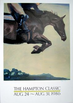1986 Hampton Classic Horse Show poster... one of my favorites. @Hampton Classic Horse Show @Hamptons Magazine