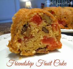 Friendship Fruit Cake {plus Starter Recipe} I know... fruitcake? Put aside your preconceived notions, and give this one a look-see... sounds amazing!!
