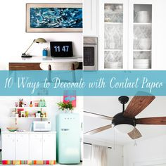 10 Ways to Decorate with Contact Paper