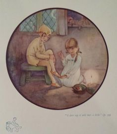 Mabel Lucie Attwell's illustrations for Peter Pan and Wendy - I dare say it will hurt a little