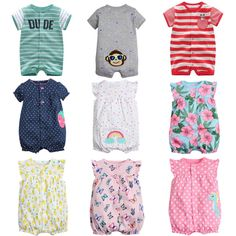 4096d4a86f5bc Brand 2017 Summer Baby Rompers Short Sleeve Baby Girls Clothing Kids  Jumpsuits Newborn Baby Boy Clothes Roupas vestidos