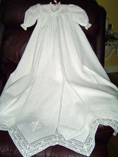 Christening Gown. I really, really would love to take a heirloom sewing class and make something like this. beautiful