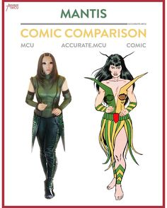 """617 Likes, 13 Comments - • Accurate.MCU • mcu fanpage (@accurate.mcu) on Instagram: """"• MANTIS - COMIC COMIC COMPARISON • i did know that mantis existed but i was not familiar with her…"""""""