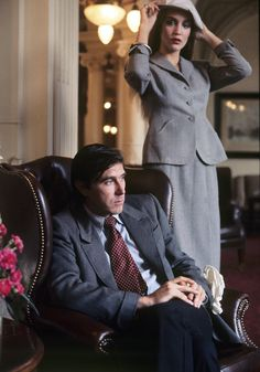 """""""Oh will you never let me be? Oh will you never let me free?"""" Bryan Ferry with Jerry Hall, back in 1976."""