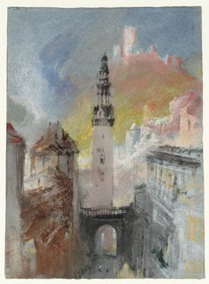 Joseph Mallord William Turner, 'St Martin's Church, Cochem' c.1839