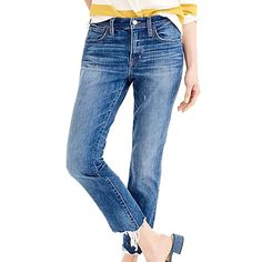Slim Boyfriend Jean w/ Chewed Hem Summer Denim, Denim Trends, Denim Style, Best Jeans, Slim Jeans, Timeless Classic, Denim Fashion, Boyfriend Jeans, Your Style