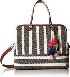 0dc641578e81 Amazon.com  Fossil Lane Satchel Handbag