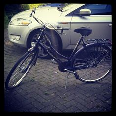 My new Dutch bike.  It's brilliant.  I have used the car once in a week and a half!  It now has a basket on the front and my son's seat on the back.